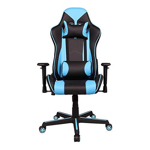 HEMFV Sedia da scrivania ergonomica Gaming Sedia, ergonomica sedia di gioco di corsa di stile Sedia da ufficio con schienale alto Cuoio scrivania sedia, regolabile in altezza confortevole sedia girevo
