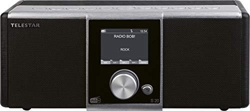 TELESTAR S 20 Digitalradio (Stereo, DAB+/DAB/UKW, Farbdisplay, Direktwahltasten, Wecker, Favoritenspeicher) Silber/schwarz