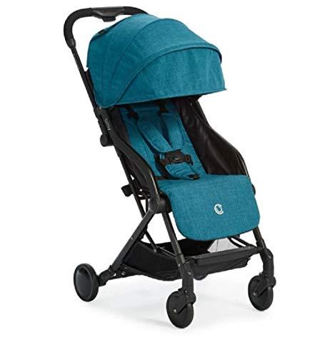 Contours bitsy compatto fold leggero passeggiatore per il viaggio, aereo-friendly, l adattatore-free car seat compatibilità, bermuda teal