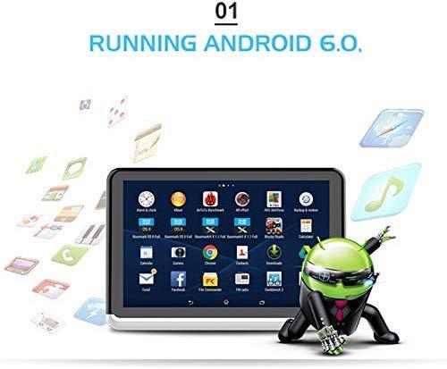 41eBuvG C4L - A10 coche universal Full HD pulgadas Android 6.0 10.1 del asiento trasero del coche del receptor de radio MP5, soporte del espejo Enlace / Wi-Fi / FM, soporte del espejo Enlace, sin DVD de reproducció
