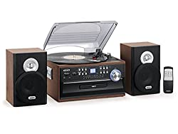 Jensen 3-Speed Turntable Music System Limited Edition - Best Record Player With Speakers