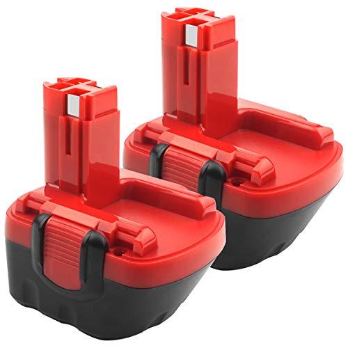 ADVTRONICS - Batería de repuesto para Bosch BAT043 BAT045 BAT120 BAT139 2607335542 2607335526 2607335274 2607335709 GSR 12-2 12 (2 unidades) VE-2 PS. R 12 GSB 12VE-2 22612 23612 32612.
