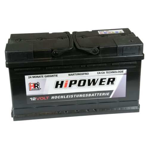 HR HiPower Autobatterie 12V 88Ah 680A/EN Starterbatterie