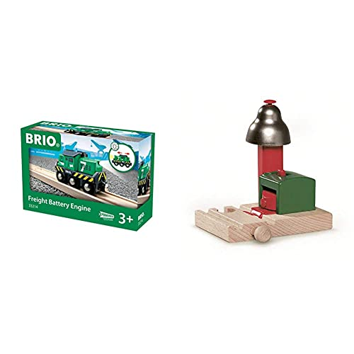 BRIO World - Freight Battery Engine & World Magnetic Bell Signal for Kids...