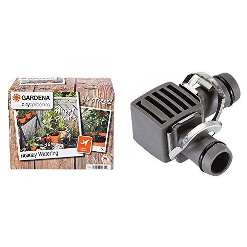 """Gardena City Gardening Urlaubsbewässerung: Pflanzenbewässerungs-Set für drinnen und draußen & Micro-Drip-System L-Stück 13mm (1/2\""""): Rohrverbinder für eine Richtungsänderung des Verlegerohres"""