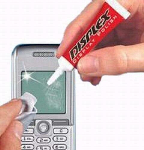 Mexxtronics Displex Bildschirm Kratzer Entferner inkl. Poliertuch, Politur, Politurpaste, Bildschirmkratzerentferner für Handy, iPod & mehr