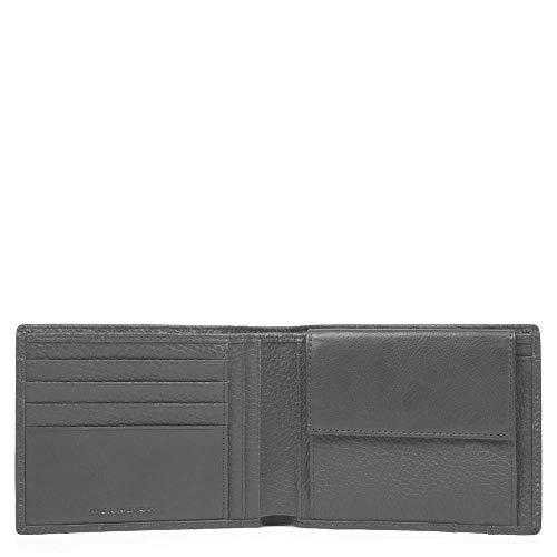 PIQUADRO ILI Geldbörse 12 cm, Schwarz (Schwarz) - PU257S86/N
