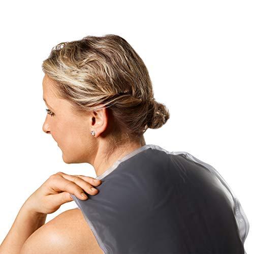 MedoVital Wärmekissen mit Naturmoor | Moorkissen für Mikrowelle | 35 x 29 cm | Wie ein Heizkissen für Rücken, Schulter, Beine & Nacken | Moor-Rückenkissen | Qualitätsprodukt aus Deutschland