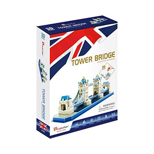 CubicFun Puzzle 3D Tower Bridge, 52 Piezas (CPA Toy Group Trading S.L. C0238)