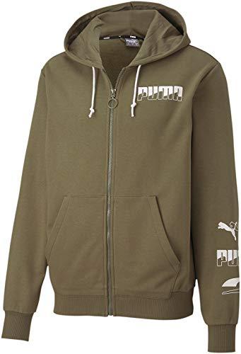 PUMA Rebel Bold Full Zip Hoodie TR Burnt Olive SM