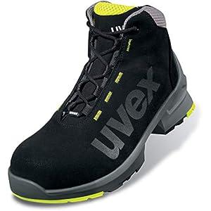 Uvex 1 Bota de Seguridad S2 SRC - Zapato Profesional de Trabajo - Punta Antiaplastamiento de Composite - Negro