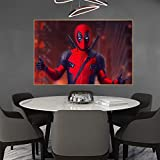 CHBOEN Deadpool In Fire, póster de película e impresiones, pintura, cómic, superhéroe, decoración de habitación, arte de pared, Cuadros para sala de estar 60x90cm