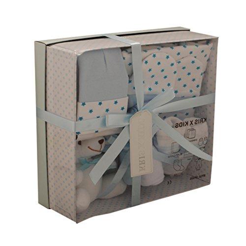 Set de regalo de 4 prendas, de 0 a 3 meses- azul azul Talla:recién nacido