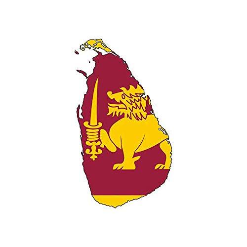 13Cm X 7.5Cm voor Sri Lanka Kaart Vlag Auto Stickers Reparatie Sticker Auto Truck Decal Simulatie Plezier Auto Wrap