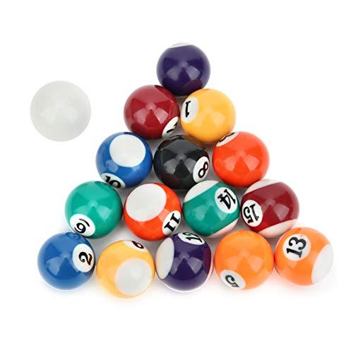 15 bolas numeradas y 1 bola blanca de billar, bola de billar de 32 mm, para salas de juegos, suministros de billar, artículos de ocio, ejercicio, deportes, juegos recreativos