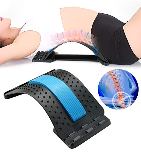 Surplex Orthopädisches Rückendehner, Schmerzlinderung im unteren und oberen Rücken, Lendenwirbeldehner, Rückenstütze für Bürostuhl, Muskelverspannungen, Akupunkturmassage, Haltungskorrektur