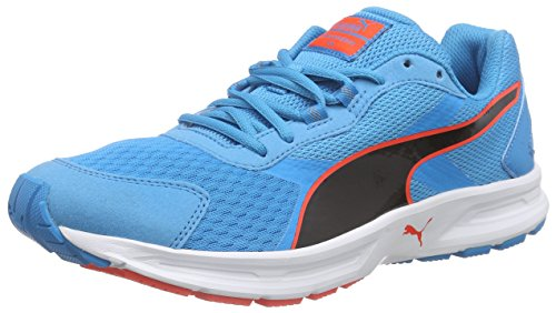PUMA Descendant v3, Zapatillas de running para hombre, Azul - Blau (atomic blue-black-red blast 08), 40