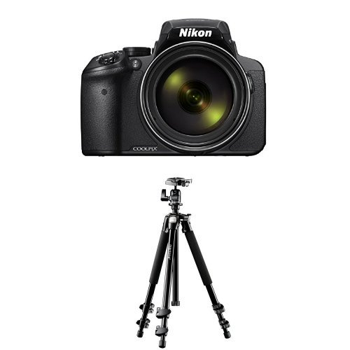 Nikon Coolpix P900 Digitalkamera (16 Megapixel, 83-fach optischer Megazoom, 7,5 cm (3 Zoll) RGBW-Display mit 921.000 Pixel, Full-HD-Video, Wi-Fi, GPS, NFC, bildstabilisiert) schwarz + Mantona Scout (DE Version)