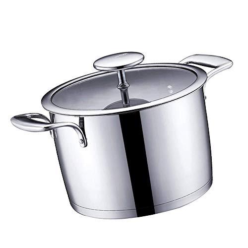 REWD Profesional Seguro Ollas Soperas Tapa de Acero Inoxidable 4.5L Stockpotwith, Dos Asas Resistentes al Calor - la Olla de cocción Cocina Cocina Cocina de Alta Temperatura Resistencia 22CM