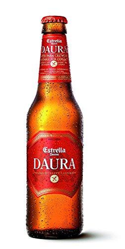 6 Flaschen Glutenfrei Estrella Daura Damm Barcelona Bier Gluten frei a 0,33l inc. 1,50€ EINWEG Pfand (Grundpreis = 9,99€ Liter)