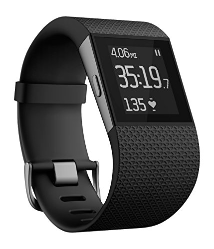 Fitbit Surge Fitness Super Watch (FB501BKL) Black - L - Renewed