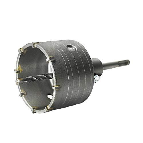 S&R Fresa / Sega a Tazza per Muro Cemento Ø 82mm Corona Carotatrice a Secco + Adattatore SDS PLUS + Punta Centraggio 8x110 mm