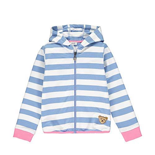 Steiff Baby-Mädchen Sweatjacke, Blau (Forever Blue 6027), (Herstellergröße: 104)