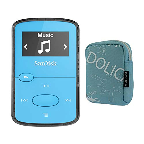SanDisk 8GB Clip Jam MP3 Player (Blue) Bundle (2 Items)