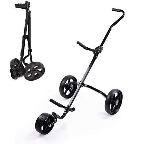 DORALO Golftrolley Faltbarer Golf Trolleys, Zieh-Golfcarts 3 Rädern Mit Scorecard (Golfball Und Tasche Nicht Im Lieferumfang Enthalten)