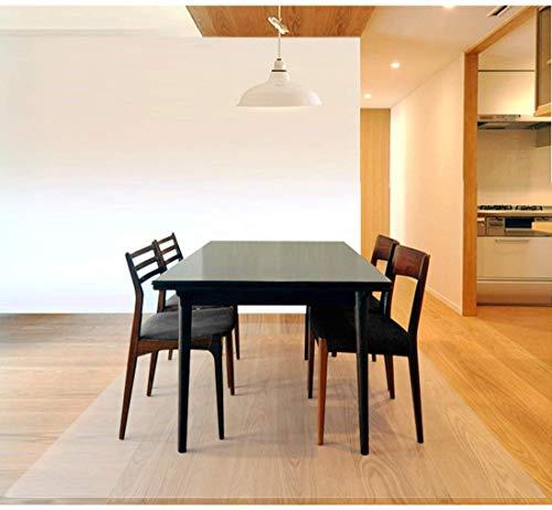 ZIJINJIAJU ダイニングマット クリア PVC 床保護シート 特大サイズ 超大判 厚さ透明1.5mm120*140cm クリアマット テーブルマット 撥水 おしゃれ 汚れ防止 お手入れ簡単 床暖房対応 滑り止め 机下/フロア/畳/(透明1.5mm120*140cm)