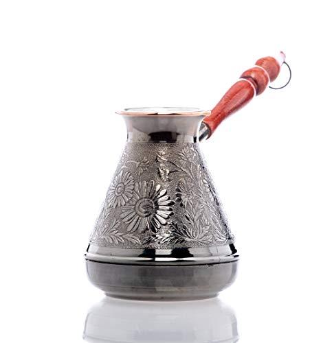 Kupfer kaffeekanne Cezve Ibrik Kaffeekocher Kamille orientalischen türkischen griechischen Kaffeegetränks Volumen 700 ml