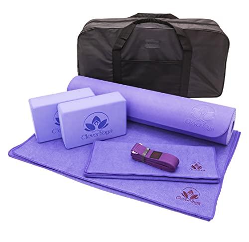 Yoga Set Kit 7-Piece 1 Yoga Mat, Yoga Mat Towel, 2 Yoga Blocks, Yoga Strap, Yoga Hand Towel, Free...