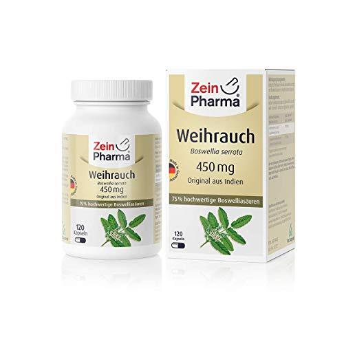 ZeinPharma Boswellia Weihrauch 120 Vegetarische Kapseln, 1er Pack (1 x 69 g)