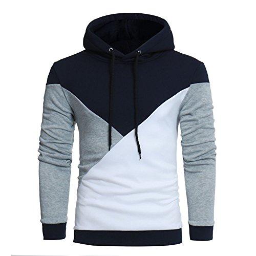 Dorical Herren Herbst Winter Hoodie Pulli Pullover Hoody Kapuzenpullover Sweatshirt Kaputze Sweatjacke Hemd mit Tunnelzug Pullover Hochwertige Kleidung für Männer Sale(Grau,Medium)