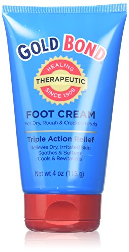 Gold Bond Triple Action Foot Cream, 4 Ounce Tube (Pack of 6)