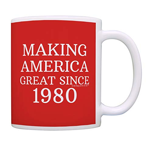 40th Birthday Gifts For All Making America Great Since 1980 Birthday Mug Birthday Gifts Coffee Mug Tea Cup Red