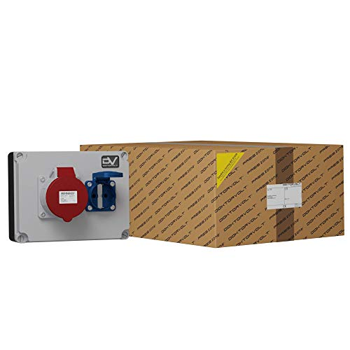 WANDDOSE WDD Industrial Electrico mit STECKDOSEN MENNEKES 1x32A/1x230V STROMVERTEILER Baustromverteiler Wandverteiler Doktorvolt 6343