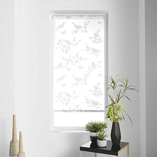 Estor Enrollable IMP. Japonés Polyester Rossignol Blanco, Blanco, 60 x 180 cm