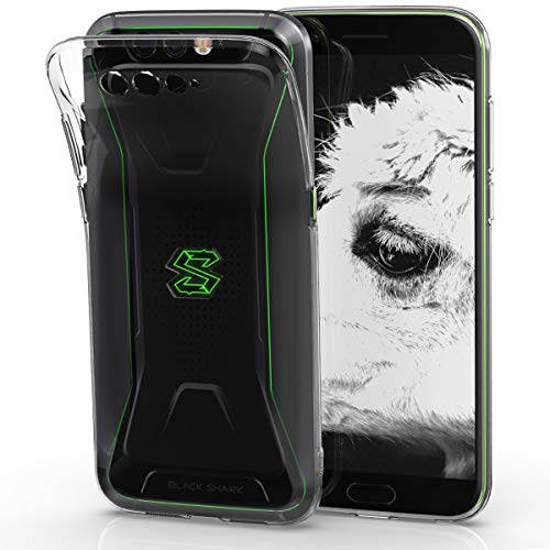 kwmobile Crystal Case for Xiaomi Black Shark - Soft Flexible TPU Silicone Protective Cover - Transparent