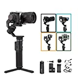 FeiyuTech G6 Max Camera Gimbal Stabilizer for Mirrorless Camera/Action Camera/Pocket Camera/Smartphone,for Sony a6300/a6500 Canon EOS 200D Panasonic,GoPro Hero 8 7 6 5 SJcam, iPhone Payload 2.4lb