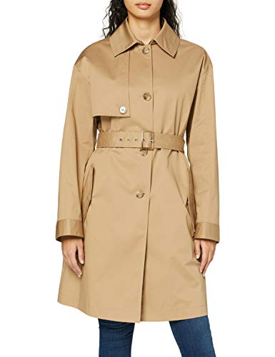 BOSS Womens Olilac Trenchcoat, Medium Beige (262), 36