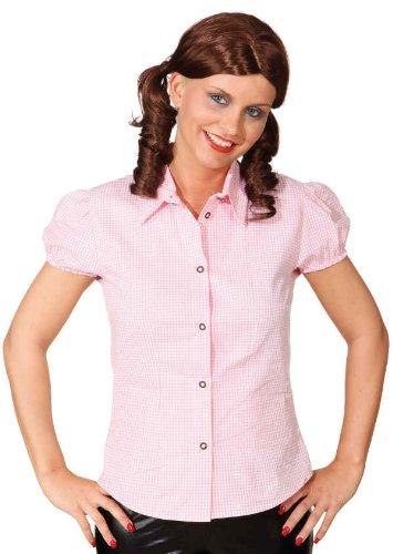 Orlob Damen Trachten Bluse rosaweiß zu Oktoberfest Fasching Karneval Gr.42
