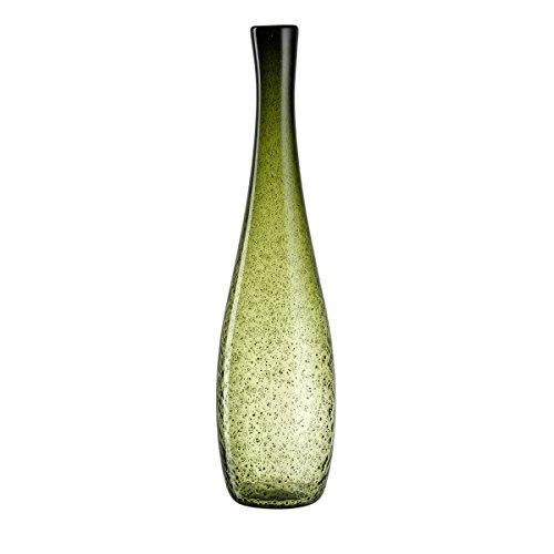 Leonardo Vase Giardino, handgefertigte Deko-Vase passend zum Landhausstil, Blumen-Vase in grünem Farbton, 60-cm, 034909