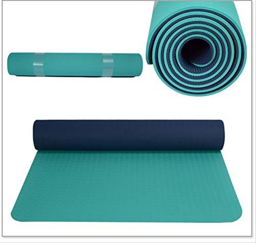 Joseph 8 mm di spessore 80 mm di larghezza tappetino yoga ispessito allargato e allungato femminile tappetino fitness tpe mat uomini Yoga inodore antiscivolo, Verde