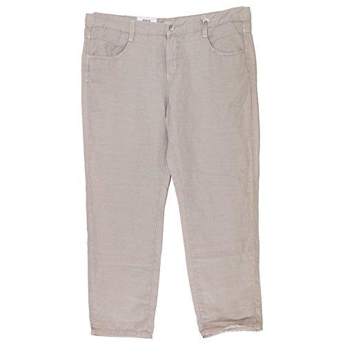 MAC, Kati Clean, Damen 7/8 Damen Jeans Hose Leinenmischgewebe Pastellbraun D 44 L 26 Inch 34 [17662]