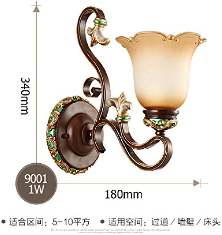 StiefelU LED Wandleuchte nach oben und unten Wandleuchten Leiter der lndlichen Wohnzimmer Wandleuchte Eisen Lampe Schlafzimmer Wand lampe Wandleuchte retro,9001 Single Wandleuchte
