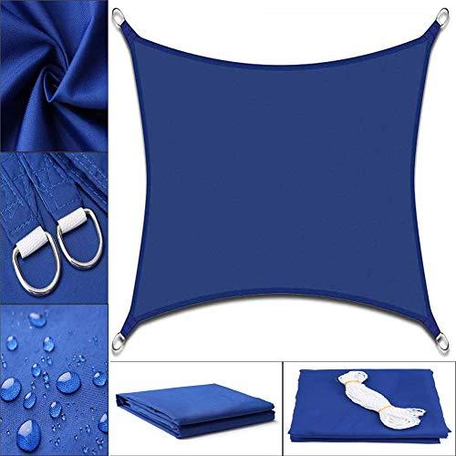 PA Toldo Vela de Sombra, Transpirable Toldo Parasol Jardín Patio Piscina Camping Picnic Toldo de Protección Solar (Color : Blue, Size : 4 * 4m)