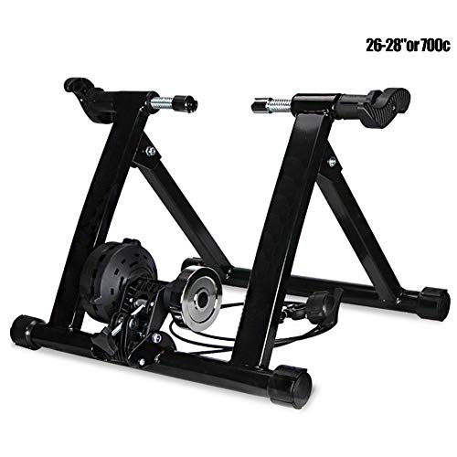 PeiQiH Indoor Bicycle Magnetic Bike Trainer Stand Road Mountain Bike Portable Exercise Training Stand Quiet Noise Reduction Stationary Bike Stand Black Load Capacity 130kg