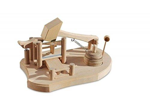 Pfiffig-Wohnen Bayerische Schnupfmaschine Jodlersepp aus Holz, Echte Handarbeit, mit Löffel & Behälter, 24 x 14 x 13 xm