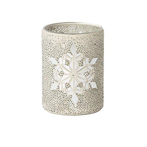 Yankee Candle Twinkling Snowlake Kandelaar, metaal, zilver, 17,7 cm
